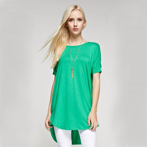 Kelly Green Loose Tunic (Plus)