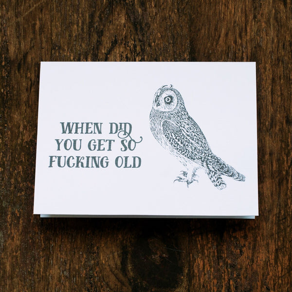 So Old Greeting Card