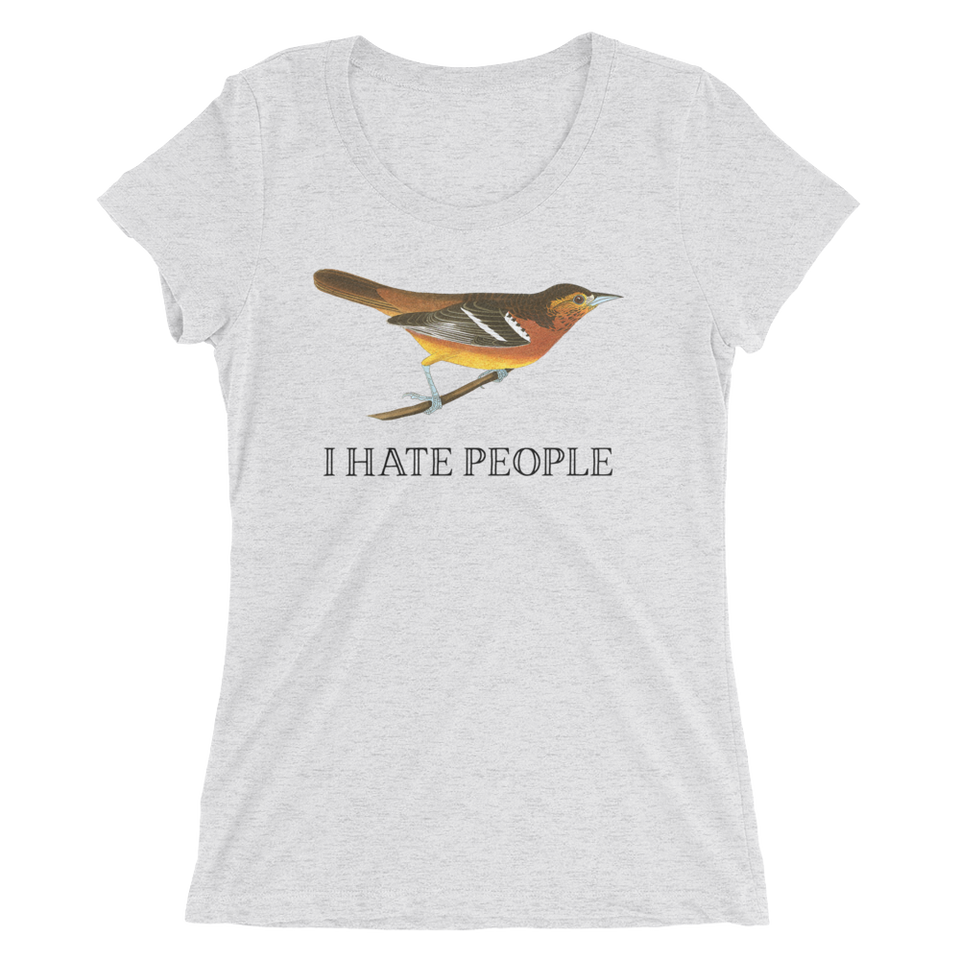 I Hate People Slim Fit T-Shirt