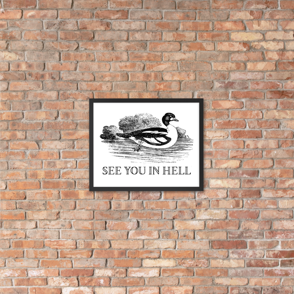 See You In Hell Framed Poster