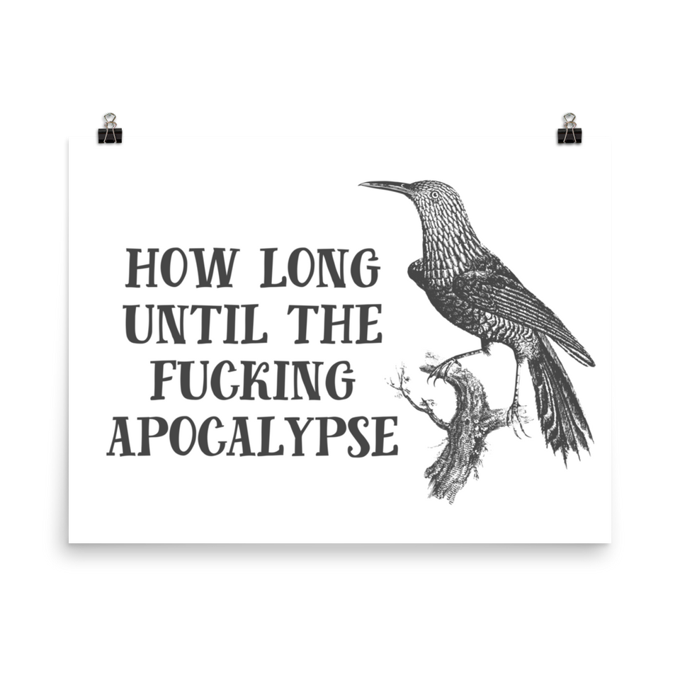 How Long Until The Fucking Apocalypse Print