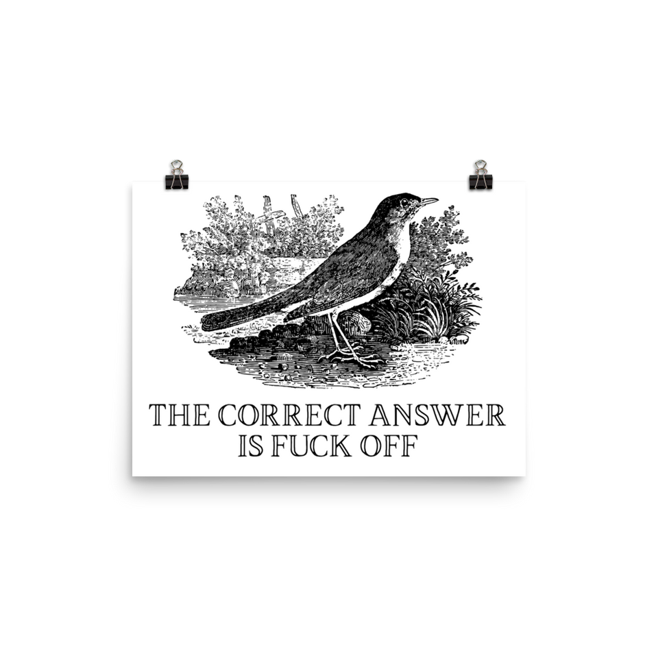 Correct Answer Poster
