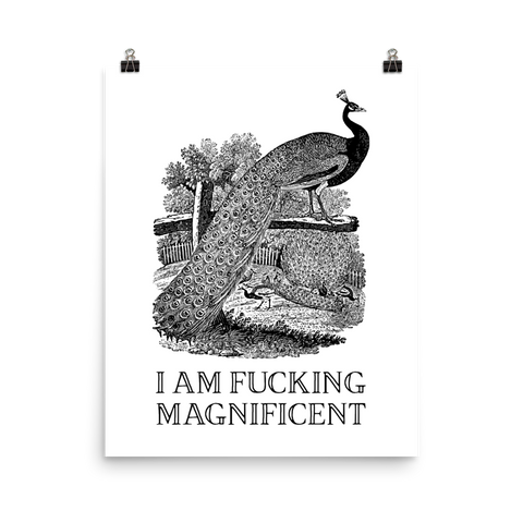 I am Fucking Magnificent Poster