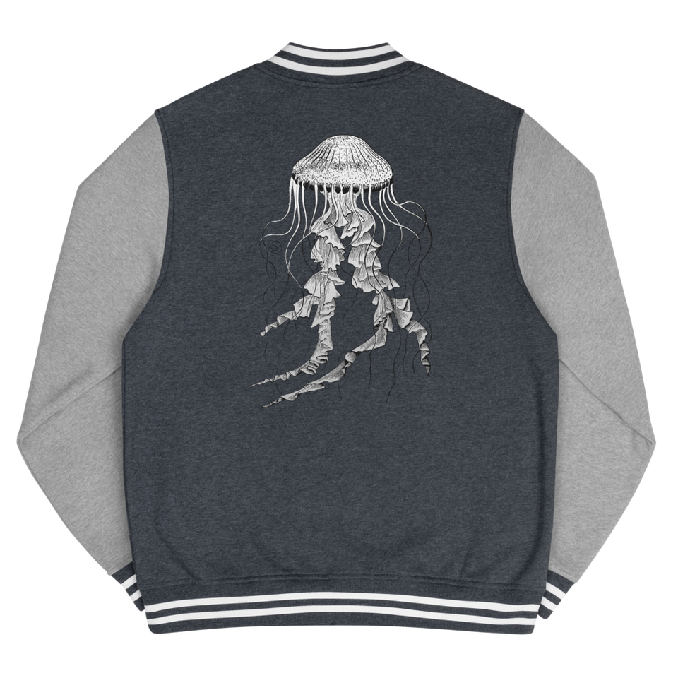Jellyfish Men's Letterman Jacket