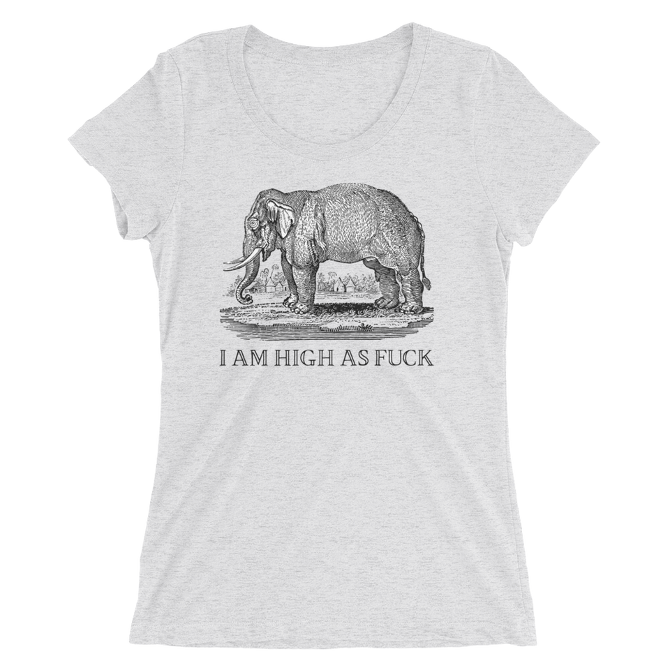 I Am High As Fuck Slim Fit T-Shirt