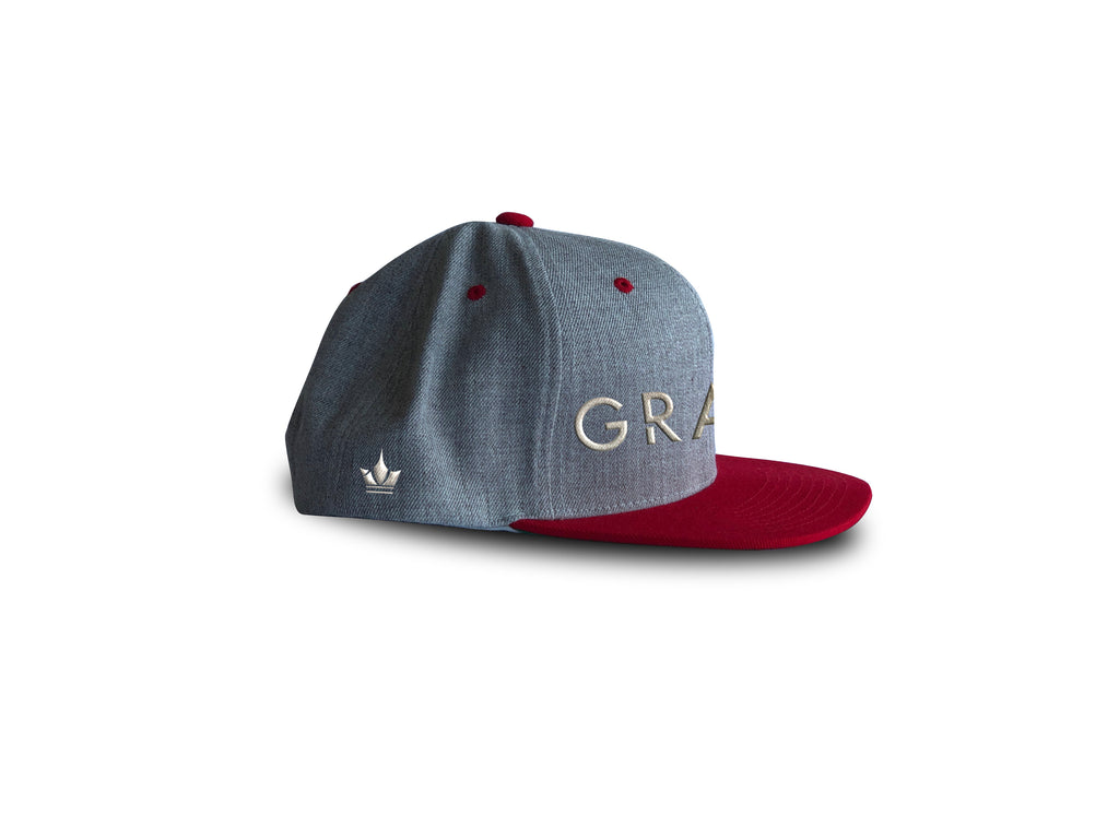 3c916605e5f Grace Heather Grey Snapback · Grace Heather Grey Snapback