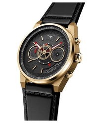ZINVO Men's Chrono Gold Watch Side View