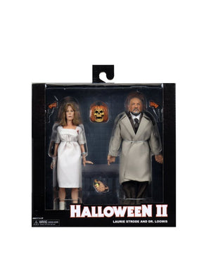 "HALLOWEEN 2 DOCTOR LOOMIS AND LAURIE STODE 8"" CLOTHED ACTION FIGURE 2 PACK ""PRE ORDER OCT/NOV 2020 APPROX"""
