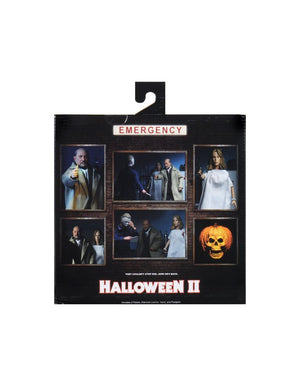 "HALLOWEEN 2 DOCTOR LOOMIS AND LAURIE STRODE 8"" CLOTHED ACTION FIGURE 2 PACK"