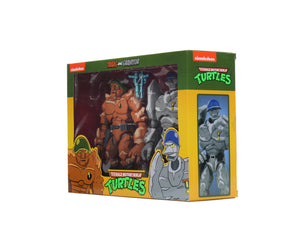 "TEENAGE MUTANT NINJA TURTLES SERIES 4  CARTOON TRAGG AND GRANNITOR 7 INCH SCALE ACTION FIGURE 2-PACK ""PRE-ORDER DEC 20/ JAN 21 APPROX"""