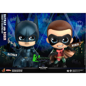 COSBABY BATMAN FOREVER BATMAN AND ROBIN 2 PACK