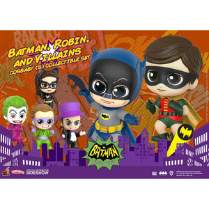COSBABY BATMAN 1966 BATMAN, ROBIN AND VILLAINS SET