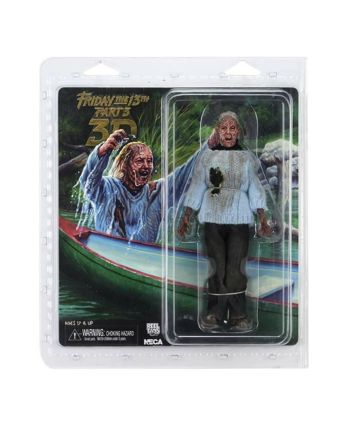 "FRIDAY THE 13TH PAMELA VOORHEES, LADY OF THE LAKE 8"" CLOTHED ACTION FIGURE"