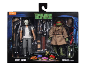"TEENAGE MUTANT NINJA TURTLES CASEY JONES AND RAPHAEL IN DISGUISE 7"" ACTION FIGIRE 2-PACK"
