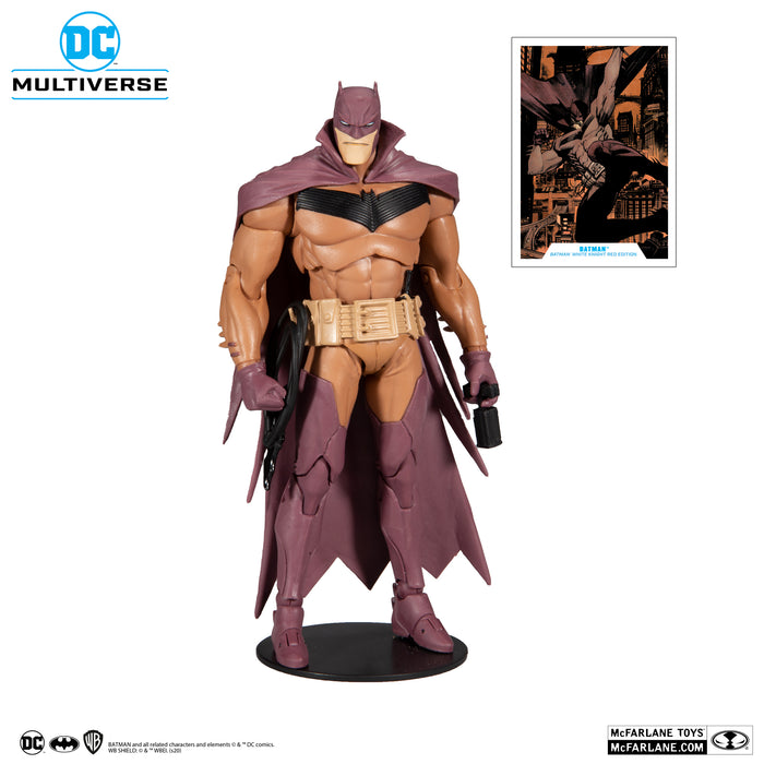 "DC MULTIVERSE BATMAN: WHITE KNIGHT RED COVER VARIANT 7"" ACTION FIGURE"