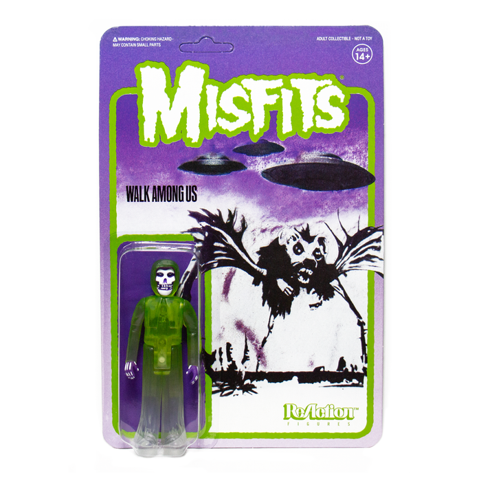 "MISFITS THE FIEND WALK AMONG US GREEN 3.75"" REACTION ACTION FIGURE"