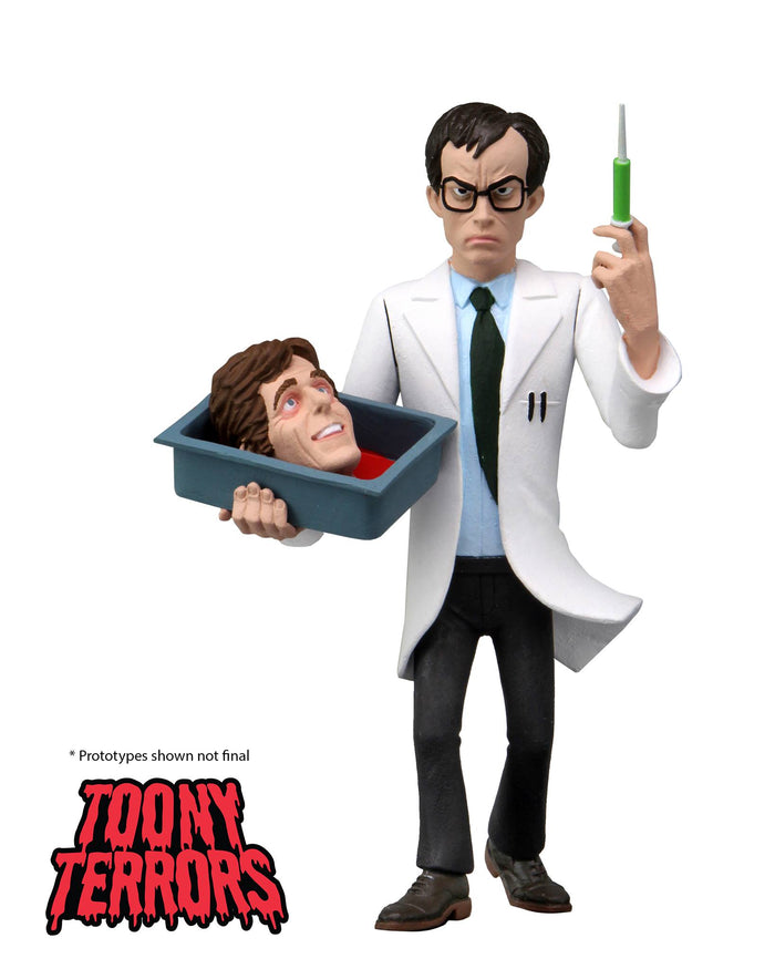"TOONY TERRORS SERIES 6 HERBERT WEST RE-ANIMATOR ACTION FIGURES ""PRE-ORDER NOV 2021 APPROX"""