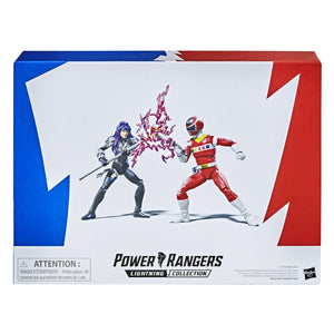 "POWER RANGERS LIGHTNING COLLECTION IN SPACE RED RANGER VS ASTRONEMA 6"" ACTION FIGURE 2 PACK"