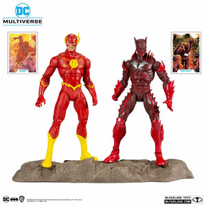 DC MULTIVERSE THE FLASH & BATMAN EARTH-52 18CM ACTION FIGURE 2 PACK
