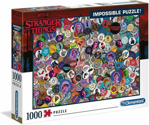 STRANGER THINGS IMPOSSIBLE PUZZLE BUTTONS (1OOO PIECES)