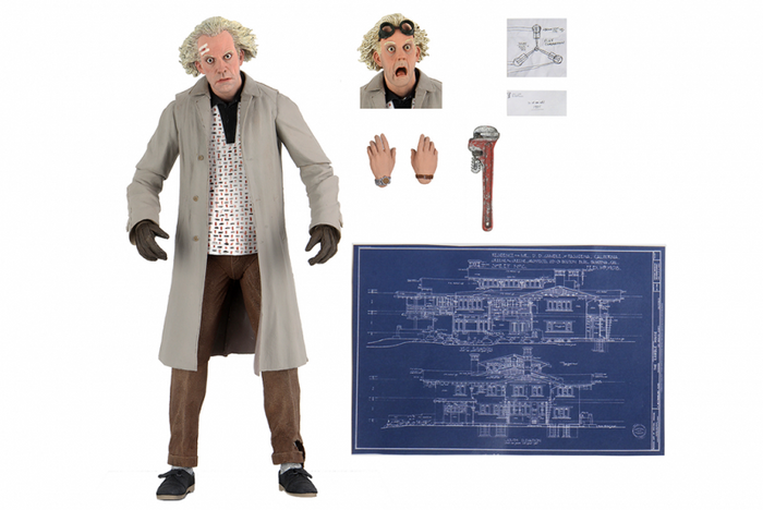 "BACK TO THE FUTURE ULTIMATE DOC BROWN 7 INCH SCALE ACTION FIGURE ""PRE-ORDER JAN 2021 APPROX"""