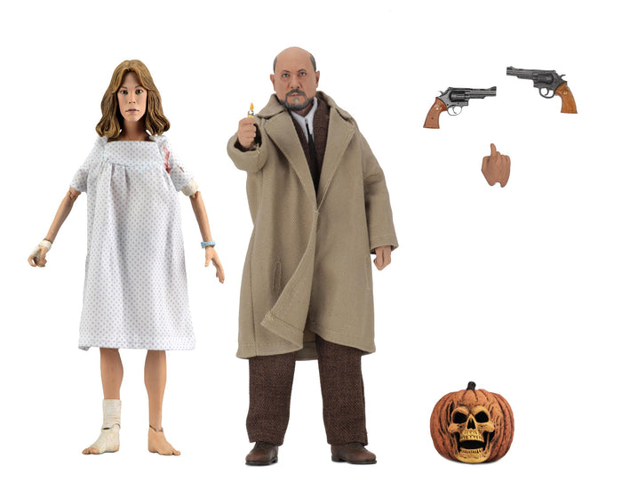 "HALLOWEEN 2 DOCTOR LOOMIS AND LAURIE STODE 8"" CLOTHED ACTION FIGURE 2 PACK ""PRE ORDER AUG 2020 APPROX"""