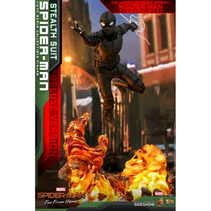"HOT TOYS SPIDER-MAN FAR FROM HOME 1:6 SPIDER-MAN STEALTH SUIT DELUXE VERSION ""PRE ORDER Q3 2020"""