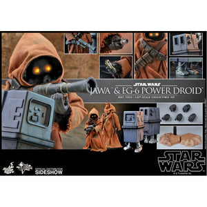 "HOT TOYS STAR WARS 1:6 JAWA & EG-6 POWER DROID ""PRE ORDER Q2 2020"""