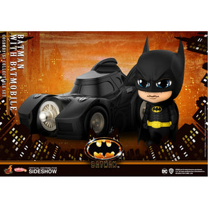 "COSBABY BATMAN 1989 BATMAN WITH BATMOBILE ""PRE-ORDER Q3 2020 APPROX"""
