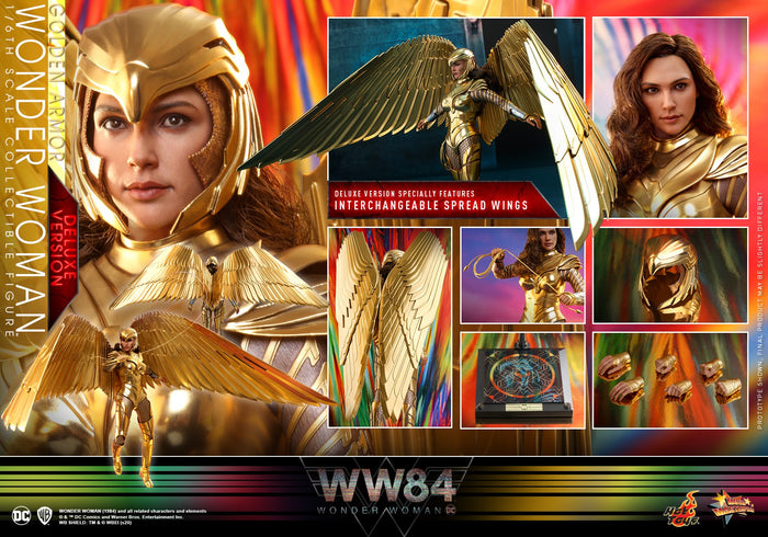 "HOT TOYS WONDER WOMAN WW84 1:6 GOLDEN ARMOR WONDER WOMAN DELUXE ""PRE-ORDER Q2 2021 APPROX"""