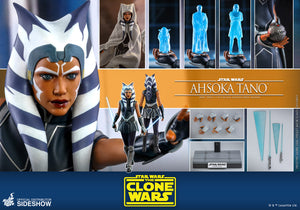 "HOT TOYS STAR WARS: THE CLONE WARS 1:6 AHSOKA TANO ""PRE-ORDER Q4 2021 APPROX"""
