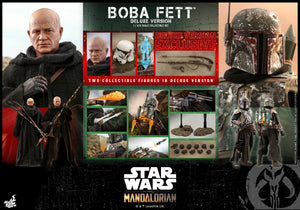 "HOT TOYS STAR WARS THE MANDALORIAN 1:6 BOBA FETT DELUXE TWIN SET ""PRE-ORDER Q3 2022 APPROX"""