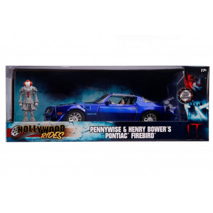 HOLLYWOOD RIGHTS IT 1:24 HENRY BOWER'S PONTIAC FIREBIRD AND PENNYWISE FIGURE