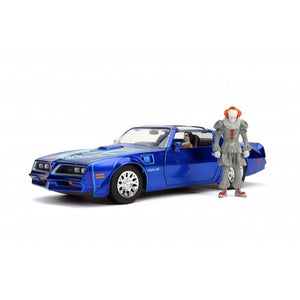 "HOLLYWOOD RIGHTS IT 1:24 HENRY BOWER'S PONTIAC FIREBIRD AND PENNYWISE FIGURE ""PRE ORDER Q4 2020"""