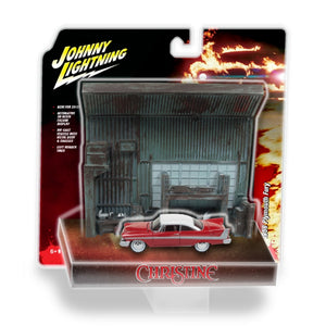 CHRISTINE 1:64 CHRISTINE PLYMOUT FURY WITH GARAGE DIORAMA