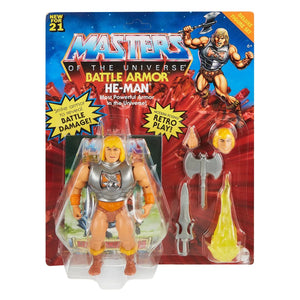 "MASTERS OF THE UNIVERSE ORIGINS BATTLE ARMOR HE-MAN 14CM ACTION FIGURE ""PRE-ORDER MAY/JUN 2021 APPROX."