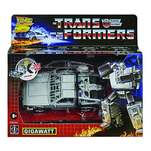 TRANSFORMERS BACK TO THE FUTURE CROSSOVER GIGAWATT DELOREAN ACTION FIGURE