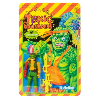 "TOXIC CRUSADERS MAJOR DISASTER 3.75"" REACTION ACTION FIGURE"
