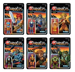 "THUNDERCATS REACTION 10CM ACTION FIGURES WAVE 1 SET OF 6 ""PRE-ORDER Q4 2020 APPROX"""