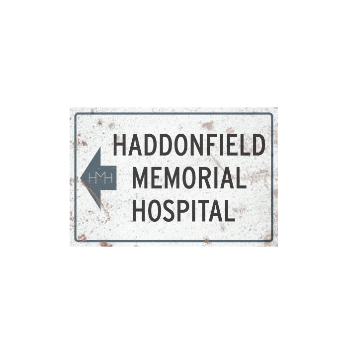 Halloween II - Haddonfield Memorial Hospital Metal Sign