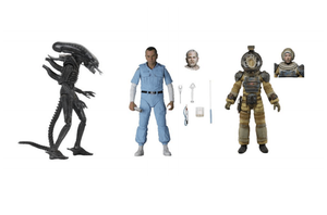 "ALIEN 40TH ANNIVERSARY ASSORTMENT 3 - 7 INCH SCALEACTION FIGURES ""PRE-ORDER JAN/FEB 2021 APPROX"""