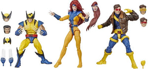 "MARVEL LEGENDS X-MEN WOLVERINE, JEAN GREY AND CYCLOPS 3 PACK 6"" ACTION FIGURES"