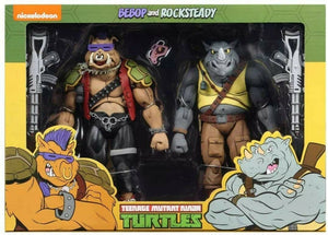 "TEENAGE MUTANT NINJA TURTLES ROCKSTEADY AND BEBOP ACTION FIGURE 2 PACK ""PRE-ORDER RESTOCKS DUE MID AUG 2020 APPROX"""