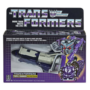 TRANSFORMERS G1 REISSUE DECEPTICON ASTROTRAIN TRIPLE CHANGER