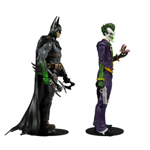 DC MULTIVERSE BATMAN ARKHAM ASYLUM 18CM BATMAN AND JOKER ACTION FIGURE 2 PACK