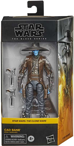 "STAR WARS THE BLACK SERIES CLONE WARS CAD BANE 6"" ACTION FIGURE"