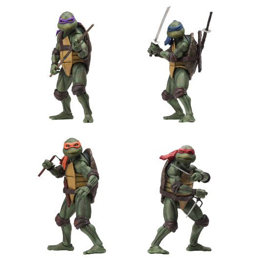 "TEENAGE MUTANT NINJA TURTLES 1990 MOVIE SET OF 4 ACTION FIGURES ""PRE-ORDER 11TH AUG 2020 APPROX"""
