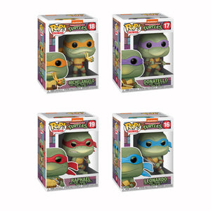 POP! TEENAGE MUTANT NINJA TURTLES SET OF 4 TURTLE VINYL FIGURES