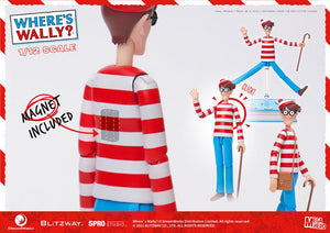 "WHERE'S WALLY MEGA HERO 1:12 WALLY 17CM ACTION FIGURE ""PRE-ORDER DEC/JAN APPROX"""