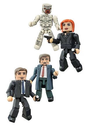 MINIMATES X-FILES ACTION FIGURE 4 PACK